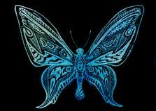 голубая бабочка Стоковое фото RF