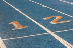 голубая беговая дорожка Стоковое Фото