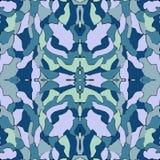 Голубая безшовная картина, предпосылка калейдоскопа, дизайн для моды стоковая фотография