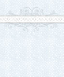 Голубая белая Checkered картина, шнурок, Flourish Стоковое Фото