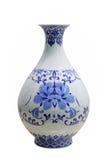 голубая белизна вазы Стоковая Фотография