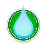 голубая белизна воды знака падения цвета Стоковое Фото