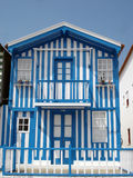 голубая белизна дома Стоковое Фото