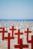 голубая белизна Ирака мемориальная красная Стоковое Изображение