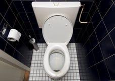 голубая белизна туалета Стоковые Изображения