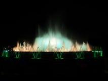 голубая белизна фонтана Стоковое Изображение RF
