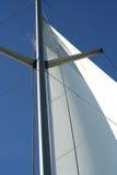 голубая белизна sailing геометрии Стоковая Фотография RF