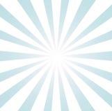 голубая белизна sunburst Стоковые Фотографии RF