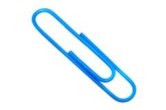 голубая бумага зажимов Стоковое фото RF