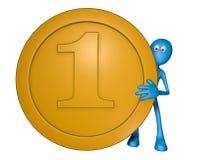 Голубая ванта с монеткой бесплатная иллюстрация