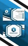 Голубая визитная карточка шестиугольника иллюстрация штока