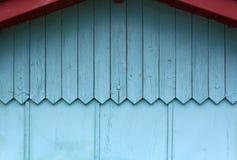 Голубая внешняя деревянная стена Стоковая Фотография