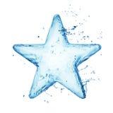 Голубая вода или звезда жидкости Стоковое фото RF