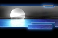 голубая вода луны logoset Стоковое Изображение RF