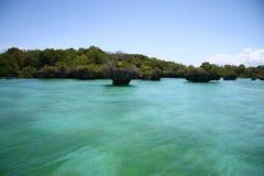 голубая вода океана Стоковое Изображение