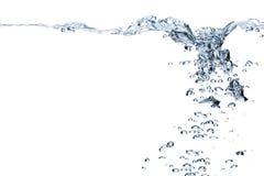 голубая вода пузырей Стоковое Фото