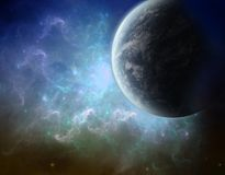 голубая волна космоса творения Стоковое Изображение
