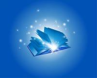 Голубая волшебная книга Backround Стоковые Изображения
