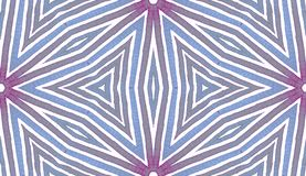 Голубая геометрическая акварель милая картина безшовная Нашивки нарисованные рукой Текстура щетки Напористое Chevr стоковое изображение