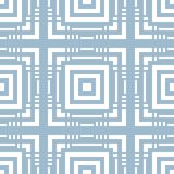 Голубая геометрическая безшовная картина с пересекая линиями, квадратами бесплатная иллюстрация