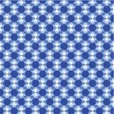 Голубая геометрическая безшовная картина стоковая фотография rf