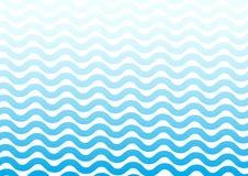 Голубая геометрическая предпосылка, волнистые линии r иллюстрация вектора