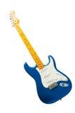 голубая гитара изолировала Стоковые Фото