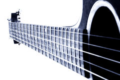 голубая гитара Стоковое Фото