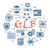 Голубая глобальная концепция балансера нагрузки бесплатная иллюстрация