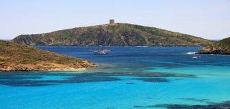 голубая глубокая Сардиния Стоковые Фотографии RF