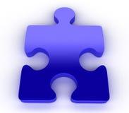 голубая головоломка зигзага Стоковое фото RF