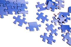 голубая головоломка частей Стоковые Изображения RF
