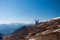 голубая гора фуникулера Стоковая Фотография RF