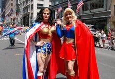 голубая гордость парада nyc Стоковая Фотография