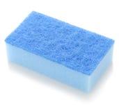 голубая губка кухни Стоковые Изображения