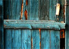 голубая дверь деревянная Стоковое Фото