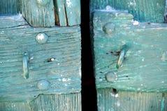 голубая дверь деревянная Стоковое фото RF