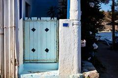 голубая дверь деревянная Стоковая Фотография RF