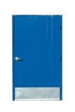 голубая дверь промышленная Стоковое Изображение