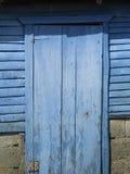голубая дверь старая Стоковые Изображения RF