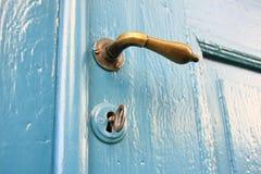 голубая дверь Стоковые Изображения RF
