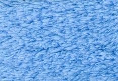 Голубая двойная, который встали на сторону предпосылка текстуры ткани Terry towelling Hig Стоковое Изображение