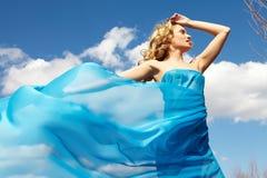 голубая девушка Стоковое Изображение RF