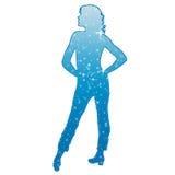 голубая девушка Стоковое Изображение
