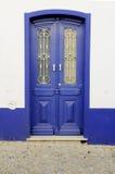 Голубая деревянная дверь Стоковая Фотография RF