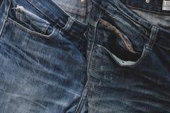 Голубая джинсовая ткань брюк Стоковые Изображения RF