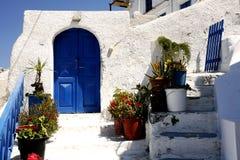 голубая дом двери стоковое фото rf