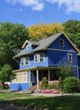 голубая дом старая стоковое фото rf