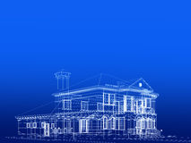 голубая дом иллюстрация вектора