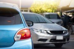 голубая дорога автомобиля стоковое изображение rf